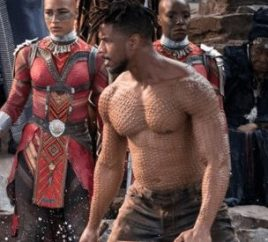 michael b jordan black panther body